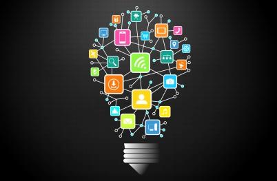 Connectivity Idea with Lightbulb